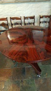 french polishing table