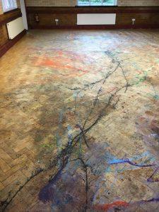 repair damaged parquet wood flooring
