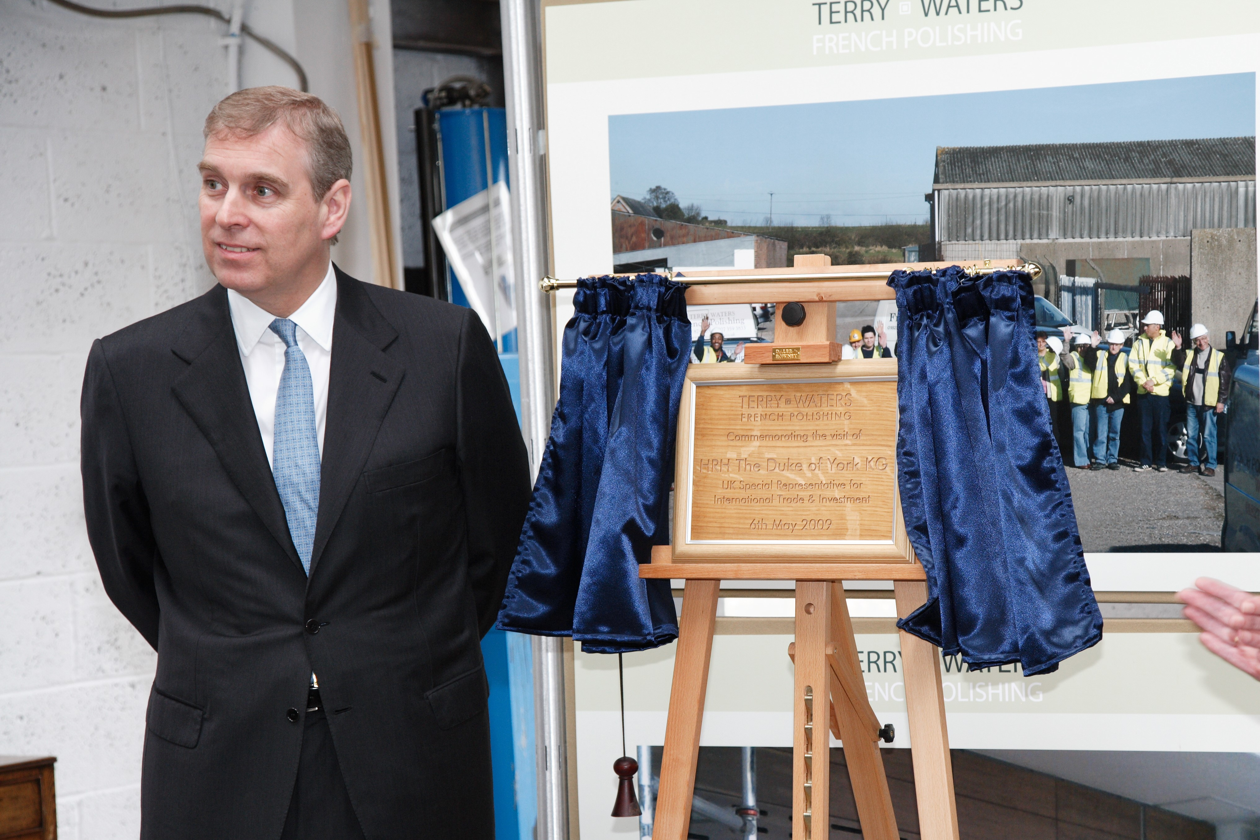 Prince Andrew visits Terry Waters French Polishing