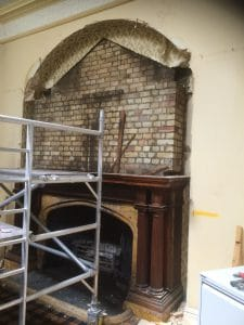 fireplace restoration in listed building