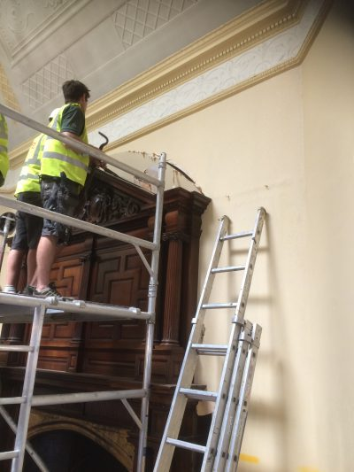 Fireplace removal for restoration in Cambridge