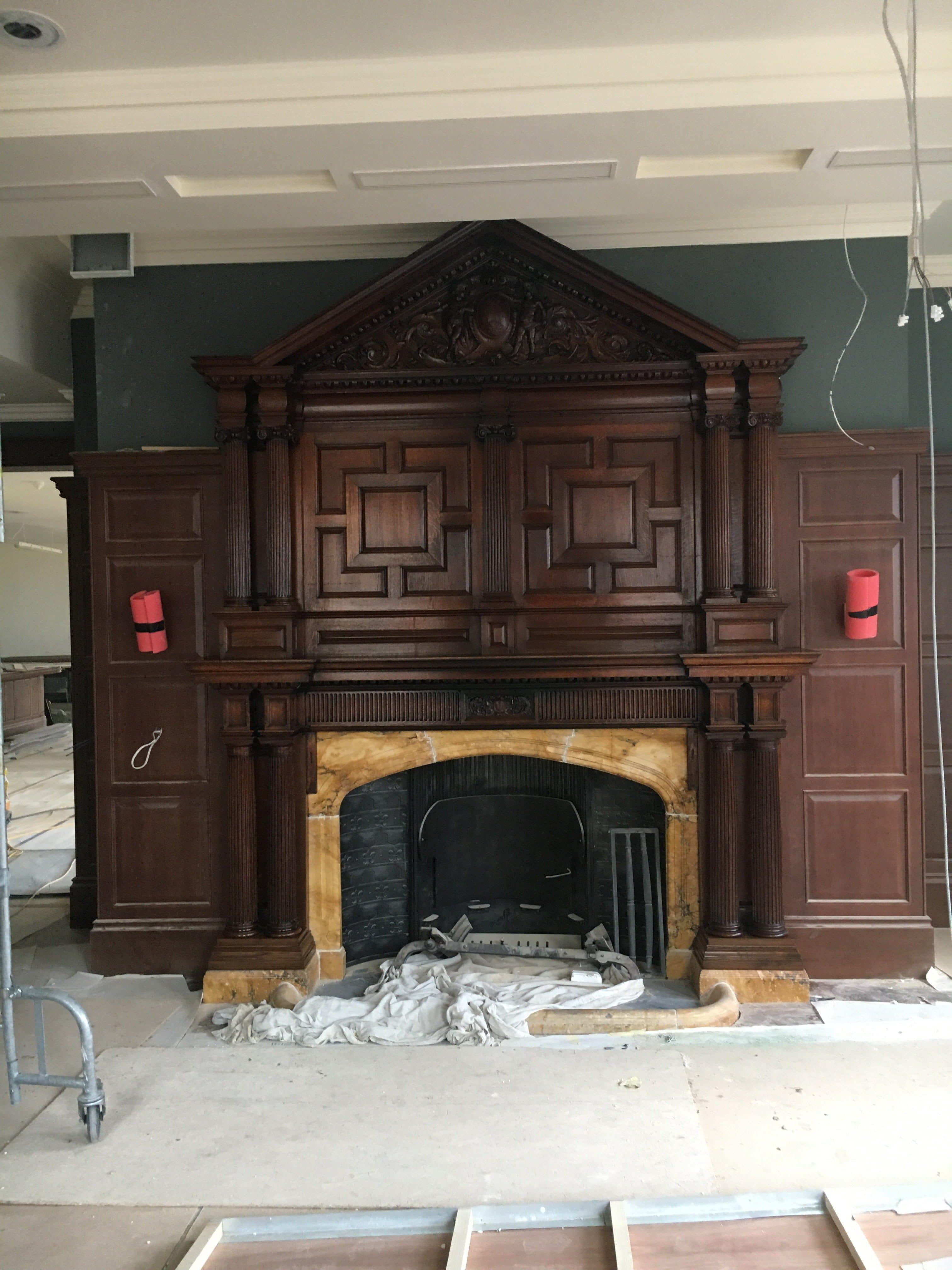 polished and restored fireplace