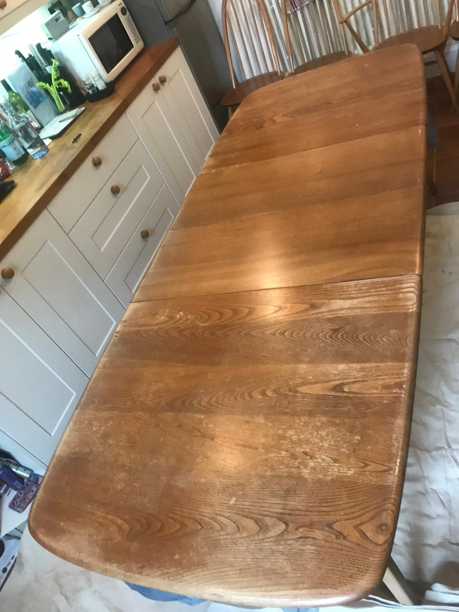 damaged ercol table needs repair