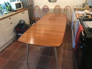 Ercol Table repolished by french polisher from Terry Waters French Polishing based near Birmingham