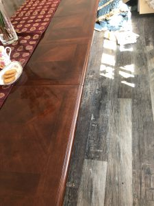 french polisher fixes table