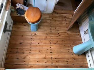 wooden floor polished