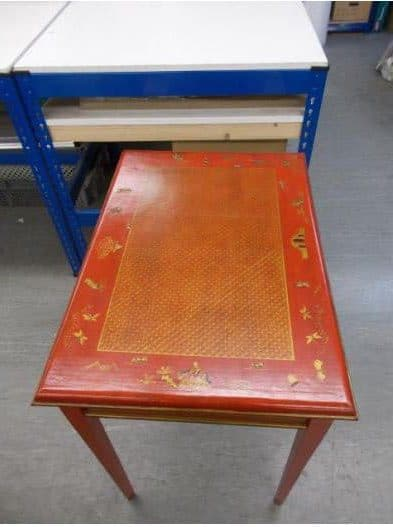 Table top glaze repaired by french polishers in Midlands