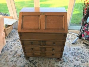 french polished writing desk fully restored by Terry Waters French Polishing