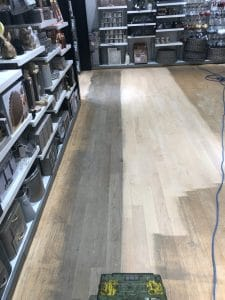 sanding shop floors