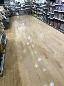 partially polished shop floor